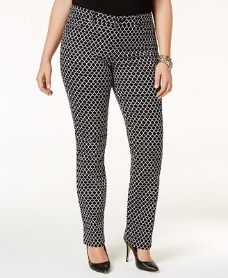 Charter Club Plus Size Printed Skinny Jeans, Created for Macy's ...