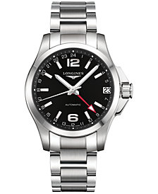 Longines Men's Swiss Automatic Conquest Stainless Steel Bracelet Watch 431mm L36874566