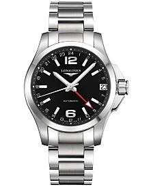 Longines Men's Swiss Automatic Conquest Stainless Steel Bracelet Watch 431mm L36874566