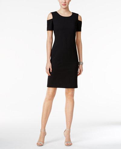 Tommy Hilfiger Cold-Shoulder Sheath Dress
