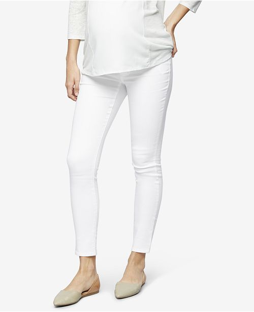 A Pea in the Pod Luxe Essentials Denim Maternity White-Wash Skinny Jeans