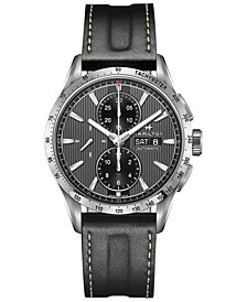 Hamilton Men's Swiss Broadway Black Leather Strap Watch 43mm H43516731