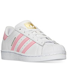 Big Girls' Superstar Casual Sneakers from Finish Line