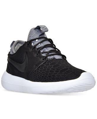 Nike Roshe Two Flyknit 365 Shoe volt/wolf grey green glow black