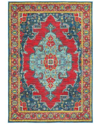 """CLOSEOUT! Vibe Heriz Red 9'10"""" x 12'10"""" Area Rug"""