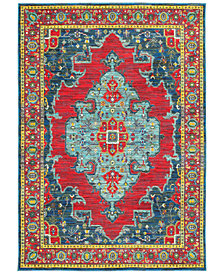 "JHB Design Vibe Heriz Red 2'3"" x 7'6"" Runner Rug"