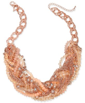 Image of Thalia Sodi Chain-Link Statement Necklace, Only at Macy's