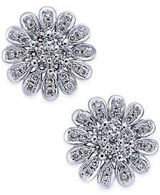 Diamond Flower Stud Earrngs (1-1/3 ct. t.w.) in 14k White Gold