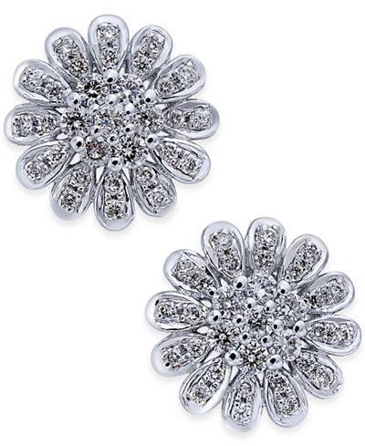 Diamond Flower Stud Earrngs (1-1/3 ct. t.w.) in 14k White Gold