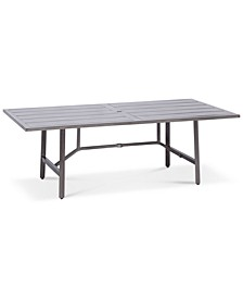 "Wayland Aluminum 84"" x 42"" Rectangle Outdoor Dining Table, Created for Macy's"