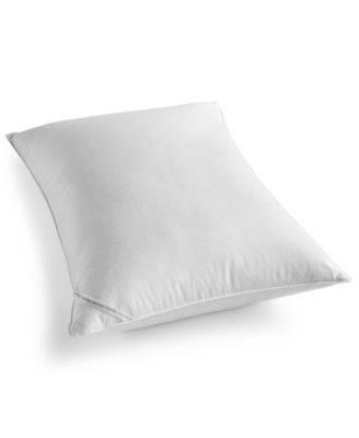 Diamond-Grid Feather & Down Wrap Medium Support King Pillow