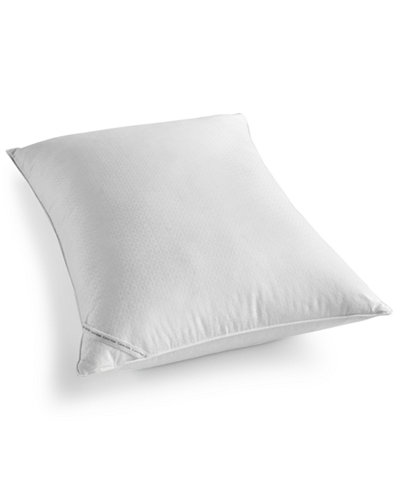 Calvin Klein Diamond-Grid Feather & Down Wrap Medium Support King Pillow