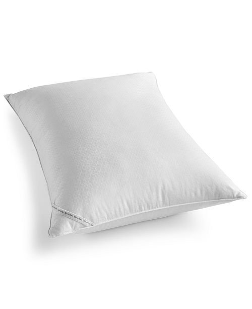 Calvin Klein Diamond-Grid Feather & Down Wrap Extra-Firm Support Standard/Queen Pillow