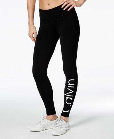 calvin klein performance logo leggings pants women macy 39 s. Black Bedroom Furniture Sets. Home Design Ideas