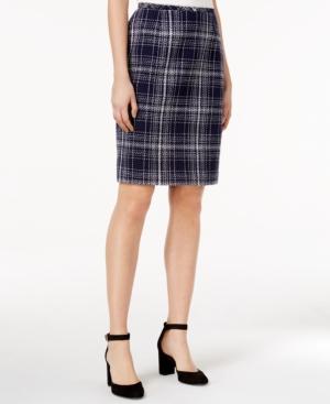 1960s Style Skirts Tommy Hilfiger Tweed Plaid Pencil Skirt $49.99 AT vintagedancer.com