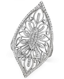 Diamond Filigree Ring (1/3 ct. t.w.) in Sterling Silver