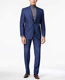 Marc New York by Andrew Marc Men's Classic-Fit Blue Neat Suit