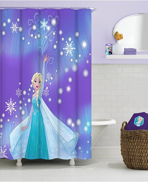 Jay Franco Frozen Elsa Snowflake Shower Curtain