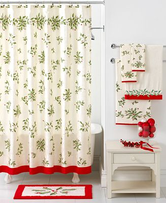 closeout lenox bath accessories holiday shower curtain bathroom accessories bed bath. Black Bedroom Furniture Sets. Home Design Ideas