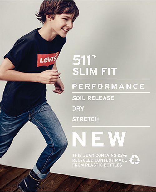 4f6b05291 Levi's 511™ Performance Slim Fit Jeans, Big Boys & Reviews - Jeans ...