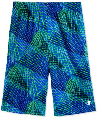 Image of Champion Abstract-Print Mesh Shorts, Toddler & Little Boys (2T-7)
