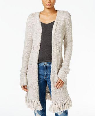 Lucky Brand Fringe Duster Cardigan - Sweaters - Women - Macy's