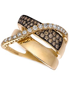 Le Vian Chocolatier® Gladiator® Diamond Crossover Ring (1-1/5 ct. t.w.) in 14k Gold