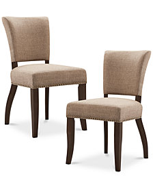 Carter Set of 2 Dining Chairs, Quick Ship