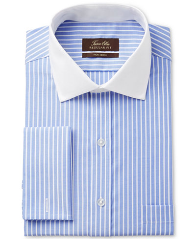 Tasso elba men 39 s classic fit non iron french cuff dress for Mens dress shirts with contrasting collars and cuffs