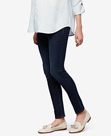 Luxe Essentials Denim Maternity Rinse Wash Ankle Jeans