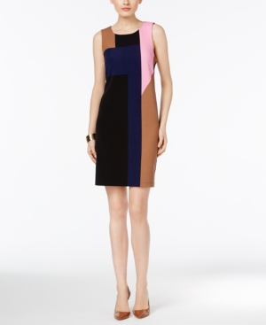 1960s Style Dresses- Retro Inspired Fashion Inc International Concepts Colorblocked Sheath Dress Only at Macys $53.99 AT vintagedancer.com