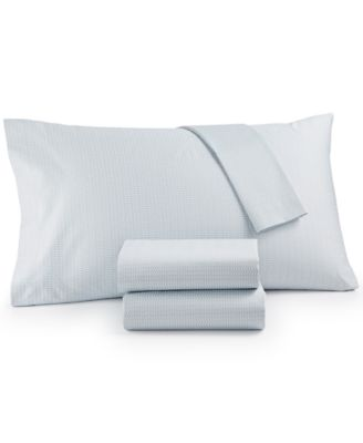 Cotton Sateen 300 Thread Count Basketweave Queen Sheet Set