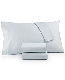 Calvin Klein Cotton Sateen 300 Thread Count Basketweave Queen Sheet Set