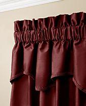 "Miller Curtains Buckingham Antique Satin 52"" x 18"" Window Valance"