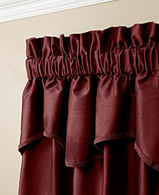 "Miller Curtains Buckingham Antique Satin 52"" x 18"" Window Valance"