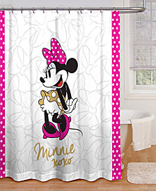 Jay Franco Minnie Mouse XOXO Shower Curtain