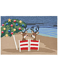 Liora Manne Front Porch Indoor/Outdoor Coastal Christmas Mult 2' x 3' Area Rug