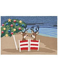 Liora Manne Front Porch Indoor/Outdoor Coastal Christmas Mult 2' x 3' Area Rug