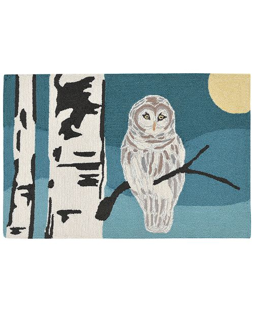 Liora Manne' Liora Manne Front Porch Indoor/Outdoor Snowy Owl Night Area Rug
