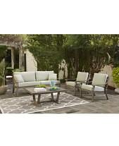 Tara Aluminum Outdoor Sofa Created For Macy S