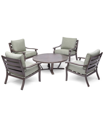 Tara Aluminum Outdoor 5-Pc. Seating Set (48