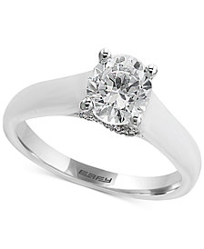 EFFY® Infinite Love Diamond Solitaire Engagement Ring (1 ct. t.w.) in 18k White Gold