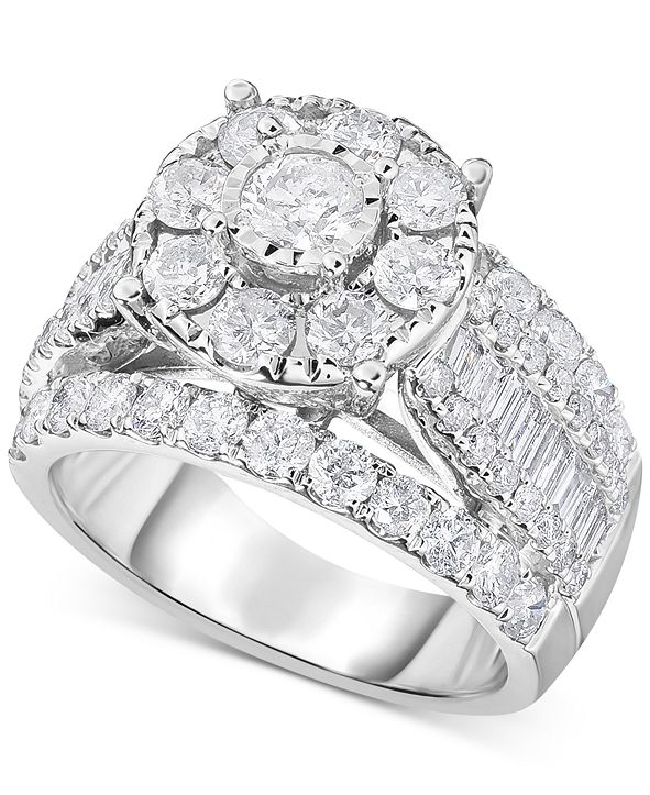 TruMiracle Diamond Engagement Ring (3 ct. t.w.) in 14k White Gold