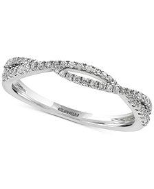 EFFY®  Infinite Love Diamond Twist Band (1/5 ct. t.w.) in 18k White Gold