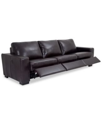 adken 3pc leather sectional sofa with 3 power recliners created for macyu0027s