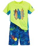 Laguna 2-Pc. Surfboards & Jellyfish Rash Guard & Swim Trunks Set, Toddler Boys (2T-4T)