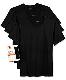 BOSS Men's Underwear, Cotton 3 Pack Crew Neck Undershirts