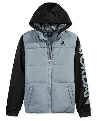 Jordan Boys Puff Vest Hooded Jacket Coats Amp Jackets