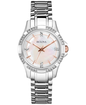Bulova Women's Stainless Steel Bracelet Watch 30mm 98L180