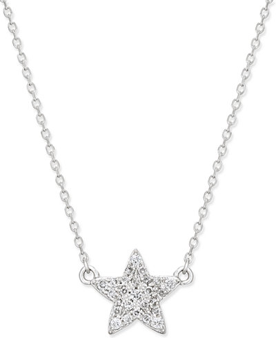 Diamond star pendant necklace 18 ct tw in 14k white gold diamond star pendant necklace 18 ct tw in 14k white gold aloadofball Images